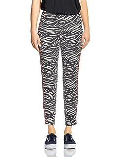 Street One Wide Leg Hose mit Zebraprint in Black in 2019