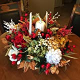 Holiday Floral Arrangement, Christmas Floral, Holiday Candle Decoration, Candle Floral Arrangement