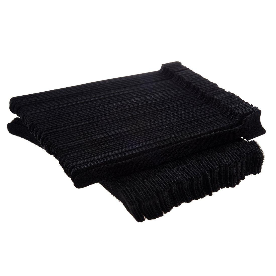 Correa de velcro - TOOGOO(R)100 pcs conjunto de correa de velcro de nylon adhesivo y reutilizable
