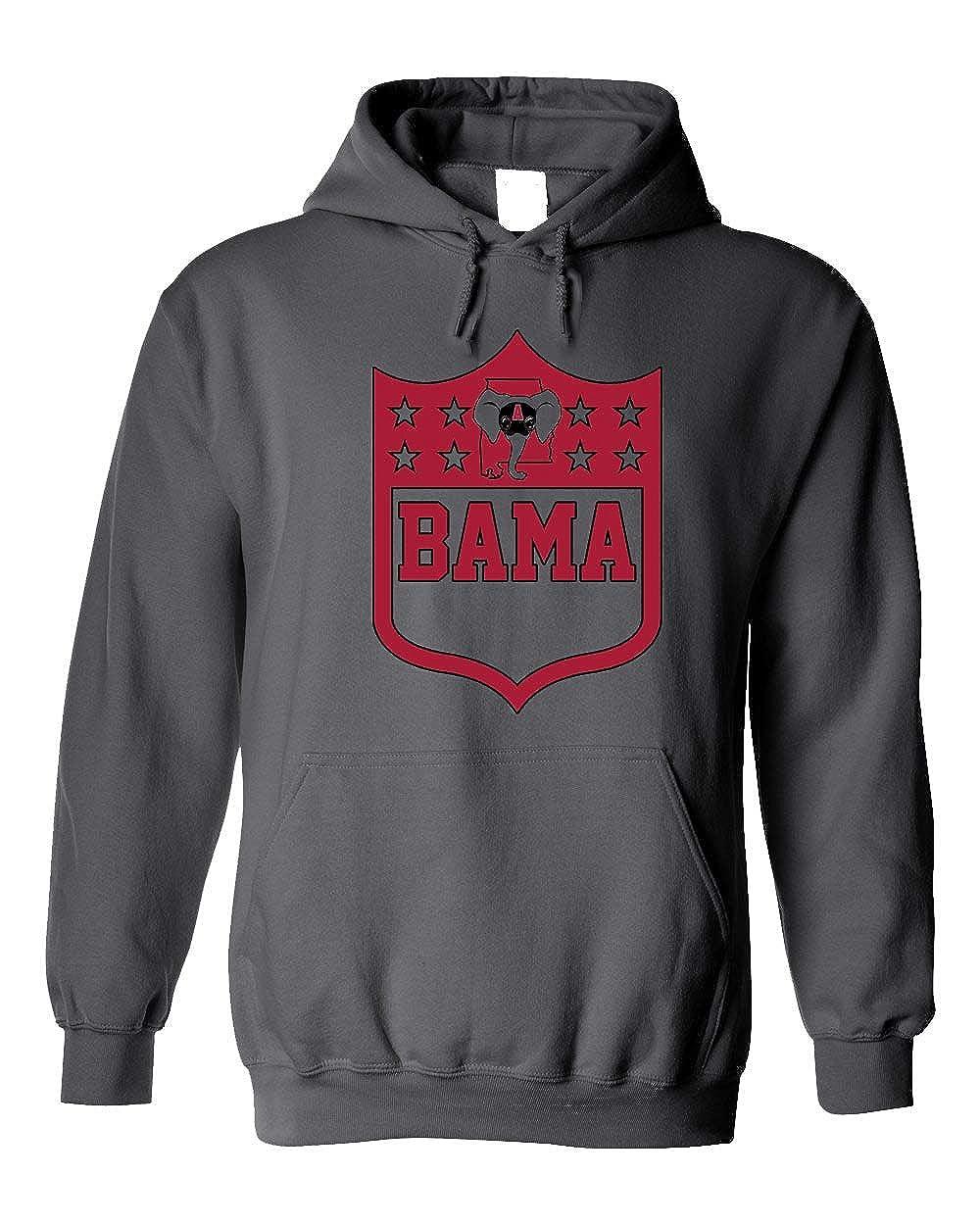 Americas Finest Apparel Alabama Shield Hoodie 3XL, Grey
