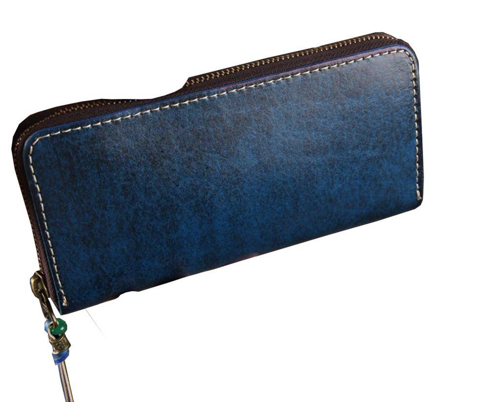 Menschwear Mens Genuine Leather Designer Wallet Credit Card Holder Purse Blue by Menschwear (Image #2)