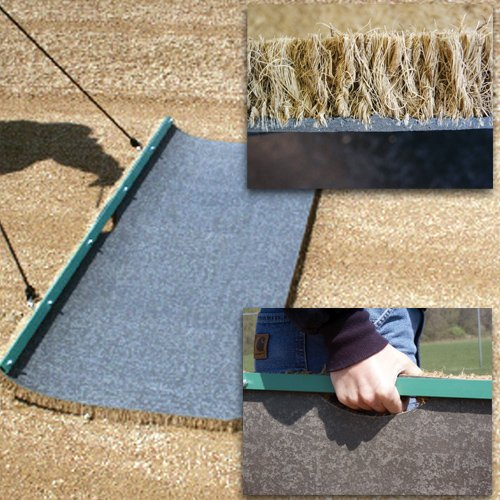 Sport Supply Group 1091557 6 x 2 Cocoa Drag Mats - Large by Sport Supply Group