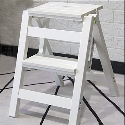 Super Amazon Com Asjhk Ladder Stool Solid Wood Step Stool Beatyapartments Chair Design Images Beatyapartmentscom