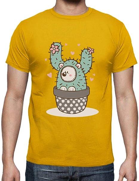 latostadora - Camiseta Hedgehog Cactus - Camisa para Hombre: ambersonic96: Amazon.es: Ropa y accesorios
