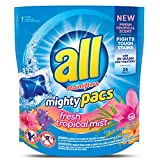 All Mighty Pacs Laundry Detergent, Fresh Tropical Mist, 24 Count