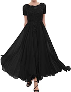 4a2d18d17ab Mother of The Bride Dresses Chiffon Evening Formal Dress Lace Applique  Mothers Bride Dresses