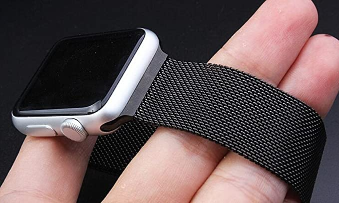 timeless design 9302a 3b43a Amazon.com: Blackweb BWB16WA001 42mm Replacement Band for Apple ...