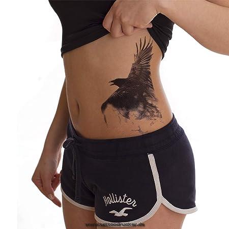 Cuervo Crow - Negro XL una vez piel Tattoo - HB850, Negro, 1 x ...