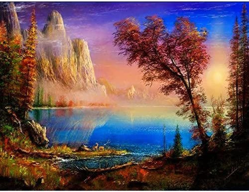 UPMALL DIY 5D Diamond Painting by Number Kits Full Drill Crystal Rhinestone Embroidery Pictures Arts Craft for Home Wall Decoration Trees 15.75/×11.81 inches
