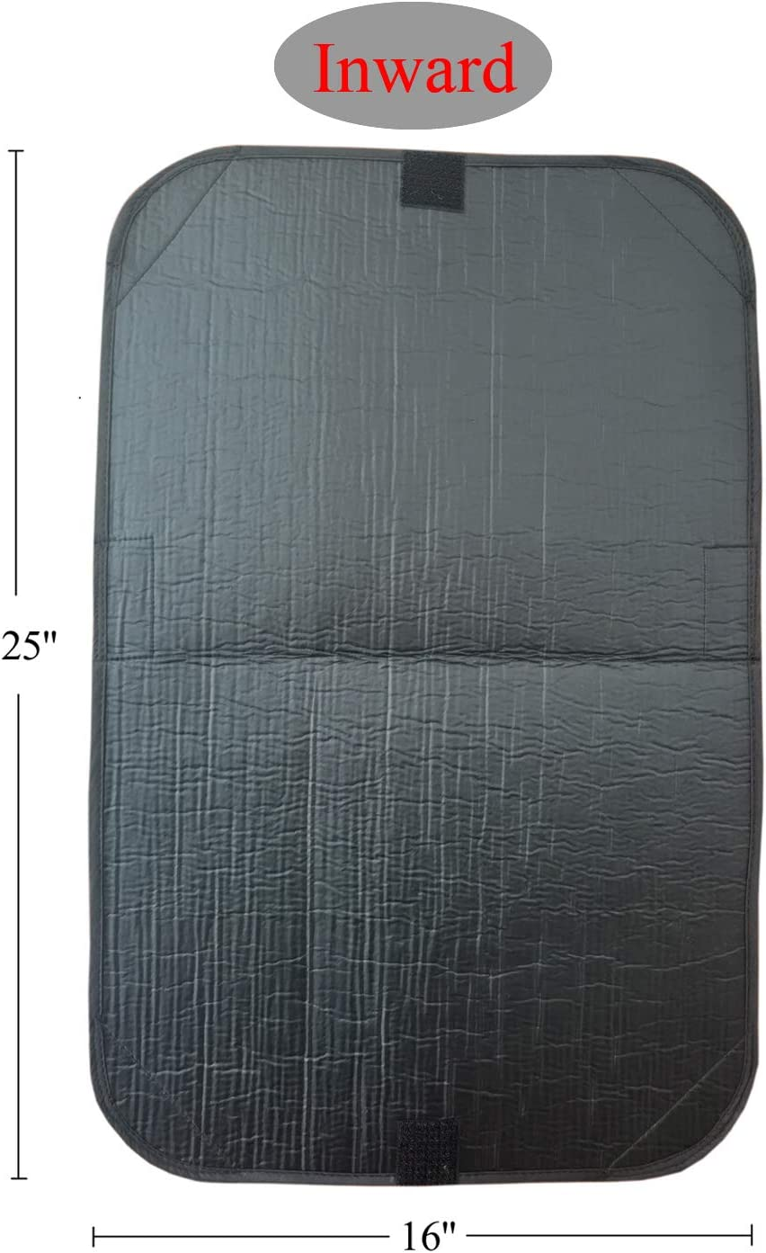 Sun Blackout Fabric for Camper Privacy Entrance RV Door Window Shade Cover 16 x 25 inch
