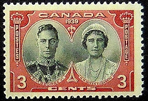 King George VI Queen Elizabeth Canada 1939 -Handmade Framed Postage Stamp Art 20147AM
