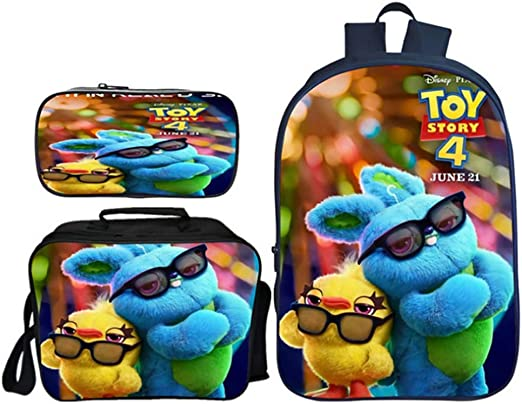InterestPrint Lunch Bag Custom Toy Story Insulated Picnic Lunch Tote Bag
