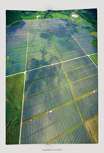 Custom Throw Blanket Aerial View Over Solar Panel Farm Outside Of Austin Texas In Webberville A Megawatt Power 460609321 and Comfortable