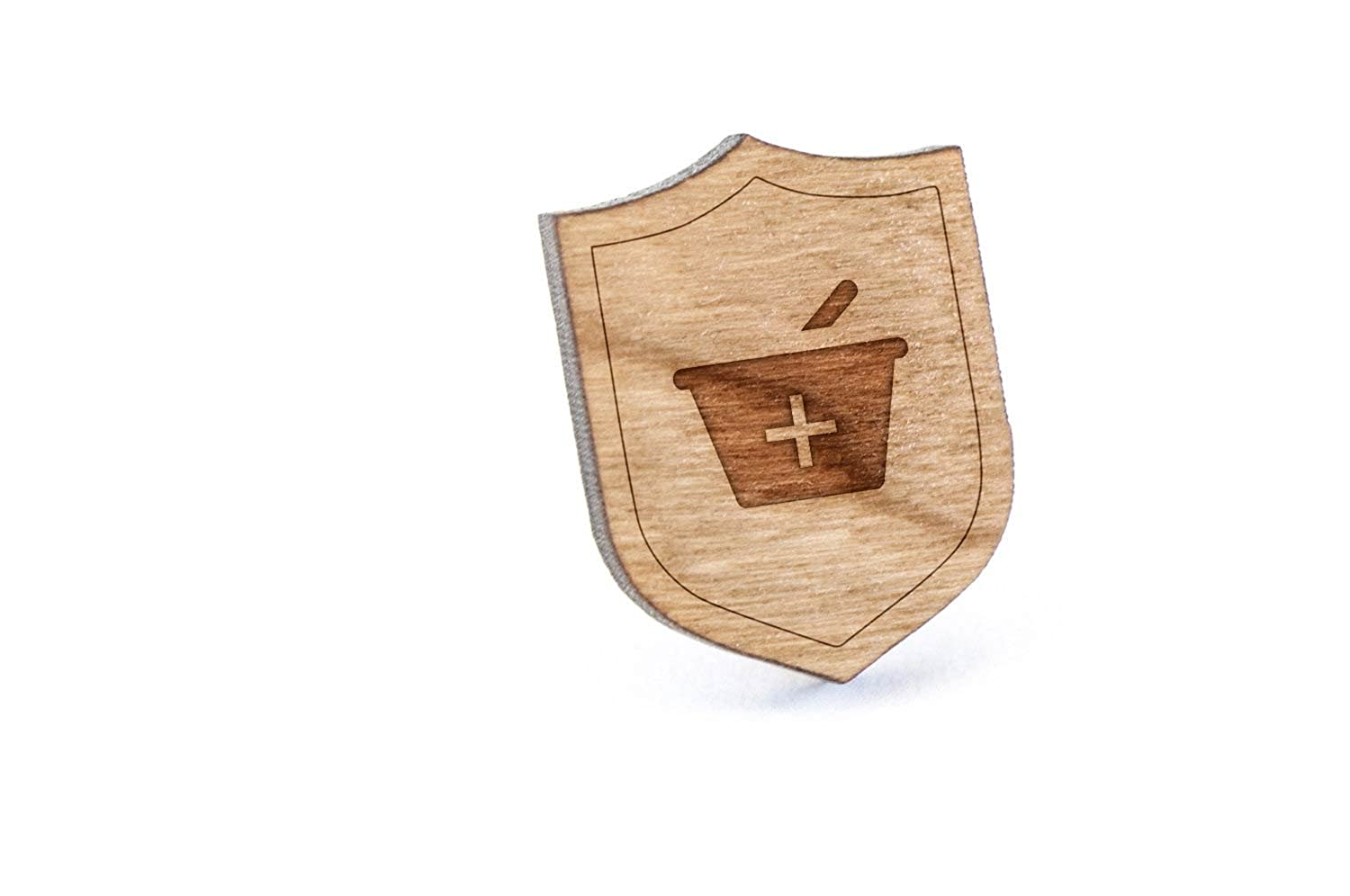 top Pharmacy Symbol Lapel Pin, Wooden Pin And Tie Tack | Rustic And Minimalistic Groomsmen Gifts And Wedding Accessories get discount