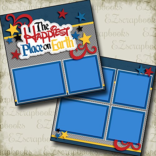 Happiest Place on Earth - Premade Scrapbook Pages - EZ Layout 2961