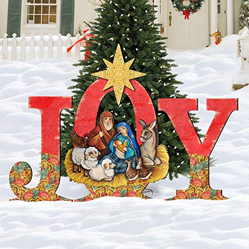 Christmas Outdoor Nativity Set, Holly Family Front Yard Scene by G.DeBrekht 8121454F