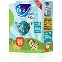 Fine Guard Kids Face Mask, Reusable face mask with virus-killing, antiviral Livinguard Technology, – Green Limited…