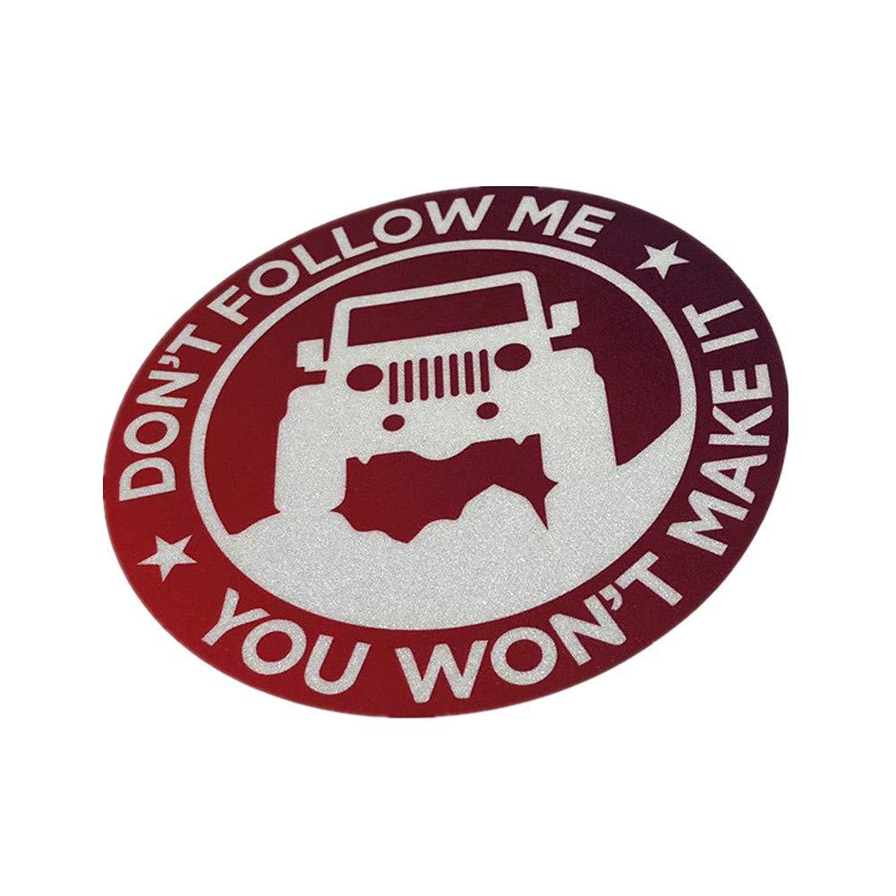 Langersun 2PCS Car Stickers Waterproof GS Adventure 4x4 Dont Follow Me You Wont Make it Motorcycle Helmet Bumper 11x11cm