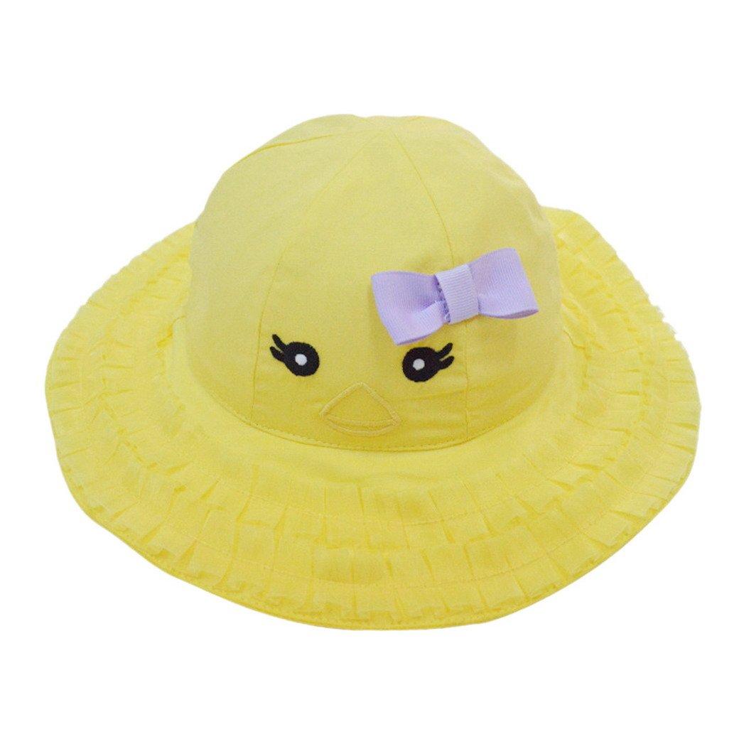 Happy Cherry Primavera Verano Sombrero Infantil Tipo de Pescador Visera con Ala Ancha Algodón Gorra Protección contra Sol para Bebés Niños Niñas