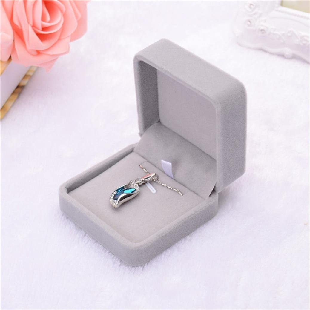 B Auwer New Velvet Jewelry Box Presentation Gift Jewellery Rings Earrings Necklace Bracelet Coin Display Storage Holder Tray Box Case for Proposal//Engagement//Wedding