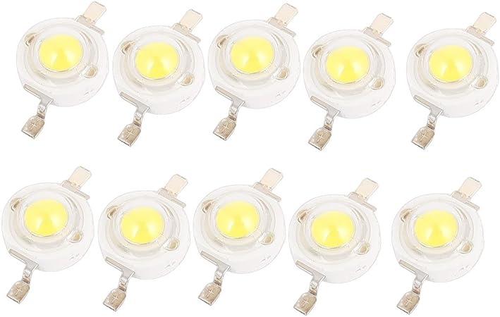 5 Pcs Pure White Light SMD LED Bead Chip Bulb Lamp 3.0-3.6V 350mA 1W 80LM