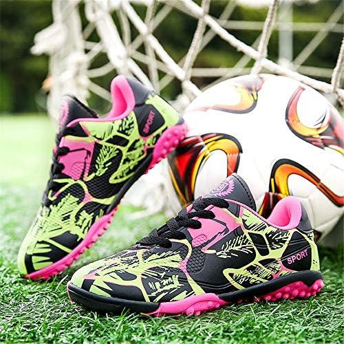 子供の男の子と女の子のサッカーシューズTFの芝生の壊れた爪のフットボールのブーツ屋内のフットサルのクリート運動のトレーナースニーカー
