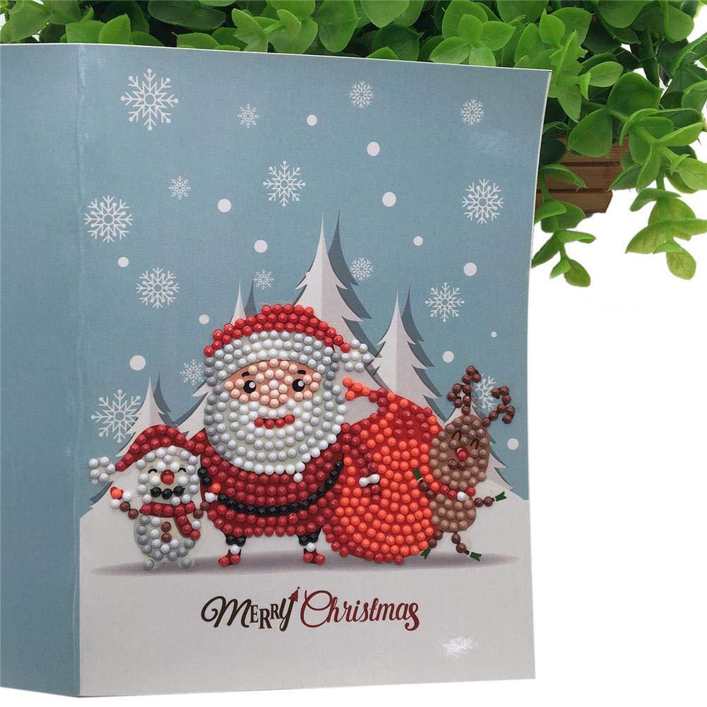 istary tarjeta de felicitación navideña DIY 5d Diamante Pintura - Tarjetas con diseño de Navidad para los mejores Navidad de Pascua foto diseño clásica ...