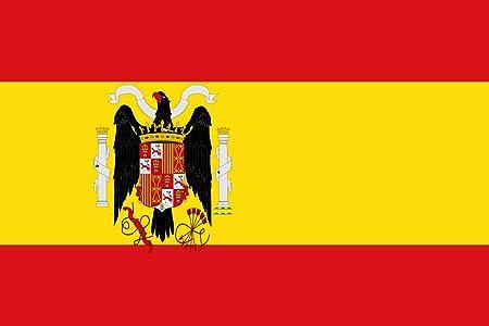 magFlags Bandera Large Régimen franquista según el Escudo adoptado por el Decreto de 2 de febrero de 1938. Más información en | Bandera Paisaje | 1.35m² | 90x150cm: Amazon.es: Jardín