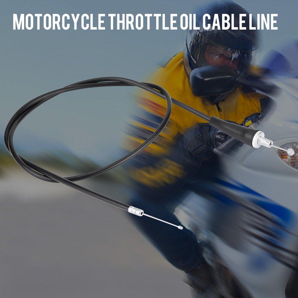 qiilu 110/cm recta de motocicleta Gas /ölkabel l/ínea con carcasa para Pit Suciedad Motor Trail Bike Motocros