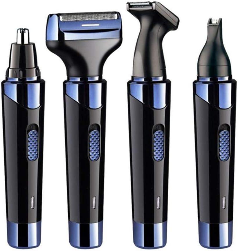 AIYLY Recargable de Cuerpo Completo del Condensador de Ajuste del Pelo 4 en 1 de los Hombres, máquina de Afeitar USB y Cuidado Cara ceja de Afeitar Clipper