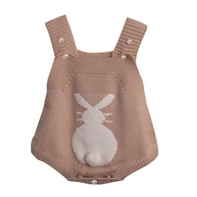 d2ce4455a30 Leegor Cute Baby Boy Girl Rabbit Romper Knitted Bunny Jumpsuit Sleeveless  Outfit