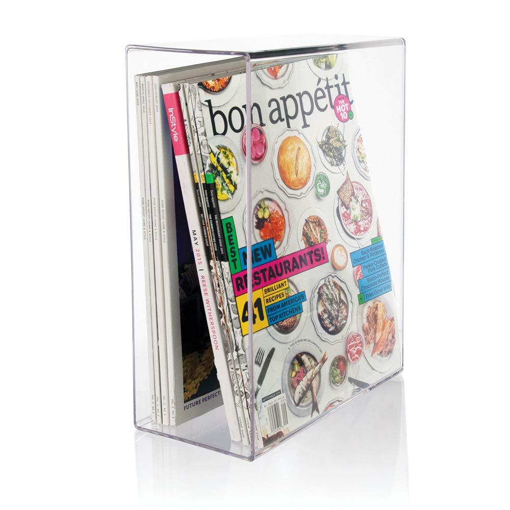 STORi Clear Plastic Magazine Holder by STORi