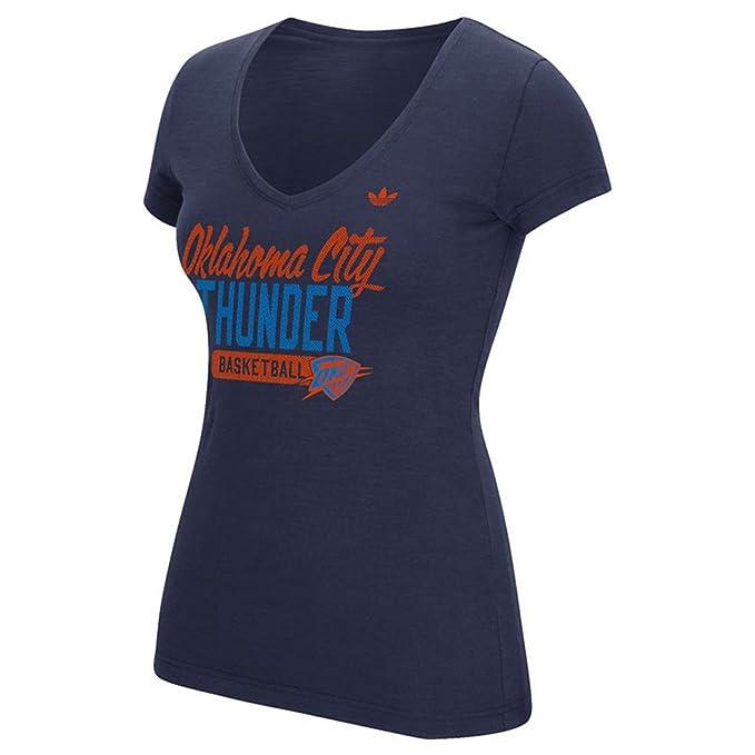 uk availability 1049c 38681 Amazon.com: Adidas Women's Oklahoma City Thunder S/S Slub ...