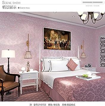 europäischen stil blau damaskus tapete schlafzimmer, wohnzimmer, tv ...