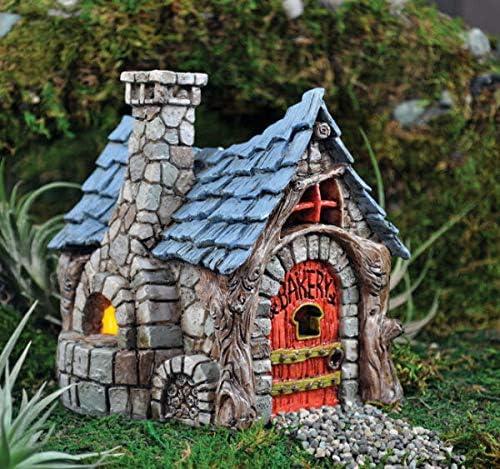Van Nimwegen Miniature Fairy Garden Bakery W HINGED Door Faerie Gnome House Cottage GO 16546 Van Nimwegen