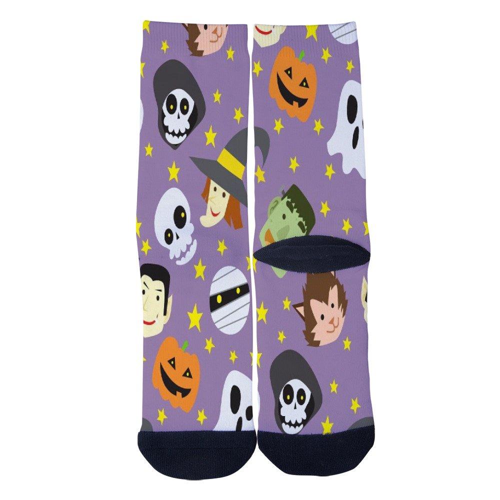Lejoa Cartoon ghost Custom Funny Crew Socks for Mens Womens