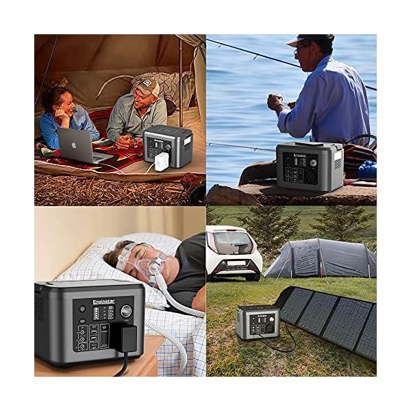 61XSaTXqcCS Enginstar Tragbare Powerstation 296Wh Solar Generatoren mit 230V Steckdose, Wireless Ladestation, USB/12V DC Ausgabe…