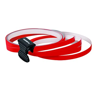 Foliatec PIN-Striping rim design red - Width = 6mm: 4x2,15 meter: Automotive
