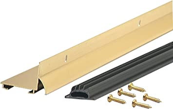 Brite Gold Heavy-Duty Aluminum And Vinyl Door Sweep W L x 36 In M-D 2 In