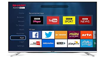 sharp 49 inch tv. sharp 49-inch 3d 1080p full hd smart tv with freeview - silver [ 49 inch tv