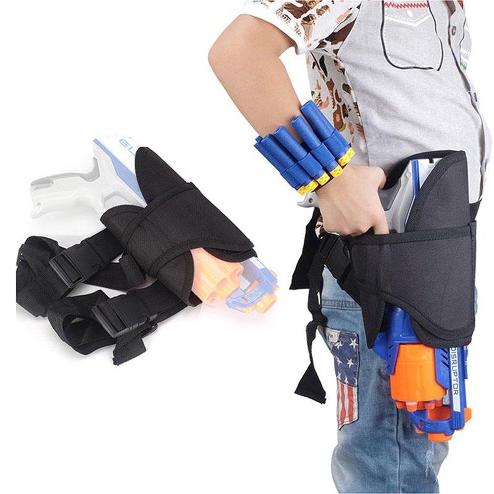 LnLyin Kampf Oberschenkel Taille Tasche Pistolenhalfter Darts Munition Lagerung für TOY Pistole Blasters Patronenhalter