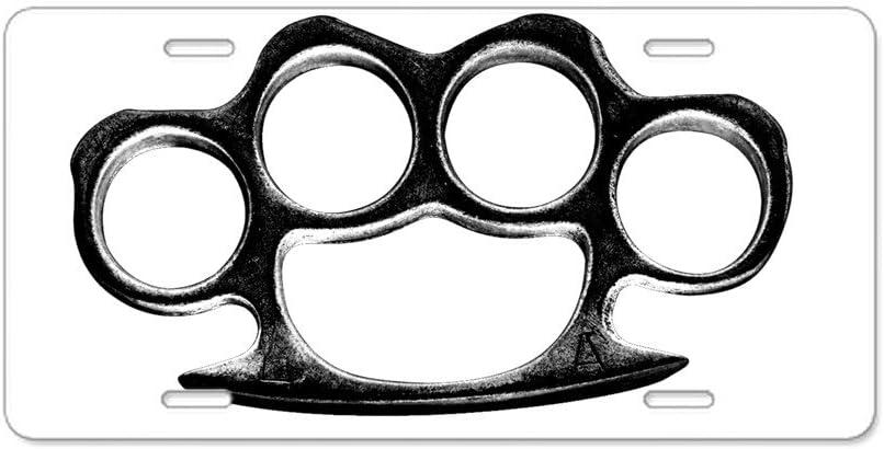 CafePress - Placa de matrícula delantera o trasera fabricada de aluminio, decorativa con un diseño de puño americano