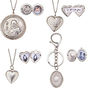 30pcs Vintage Hollow Heart Pendant Fit Necklace Bag Keychain Charms Pendant