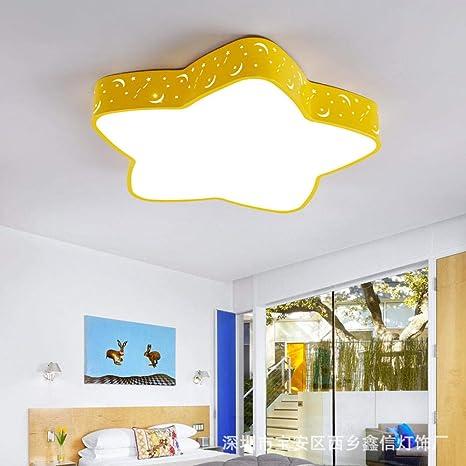 Lámpara de techo para niños estrella de cinco puntas lámpara ...