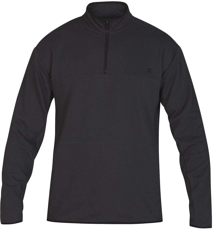 Mens Dri-Fit Naturals Fleece Track Qz Sweater Hurley