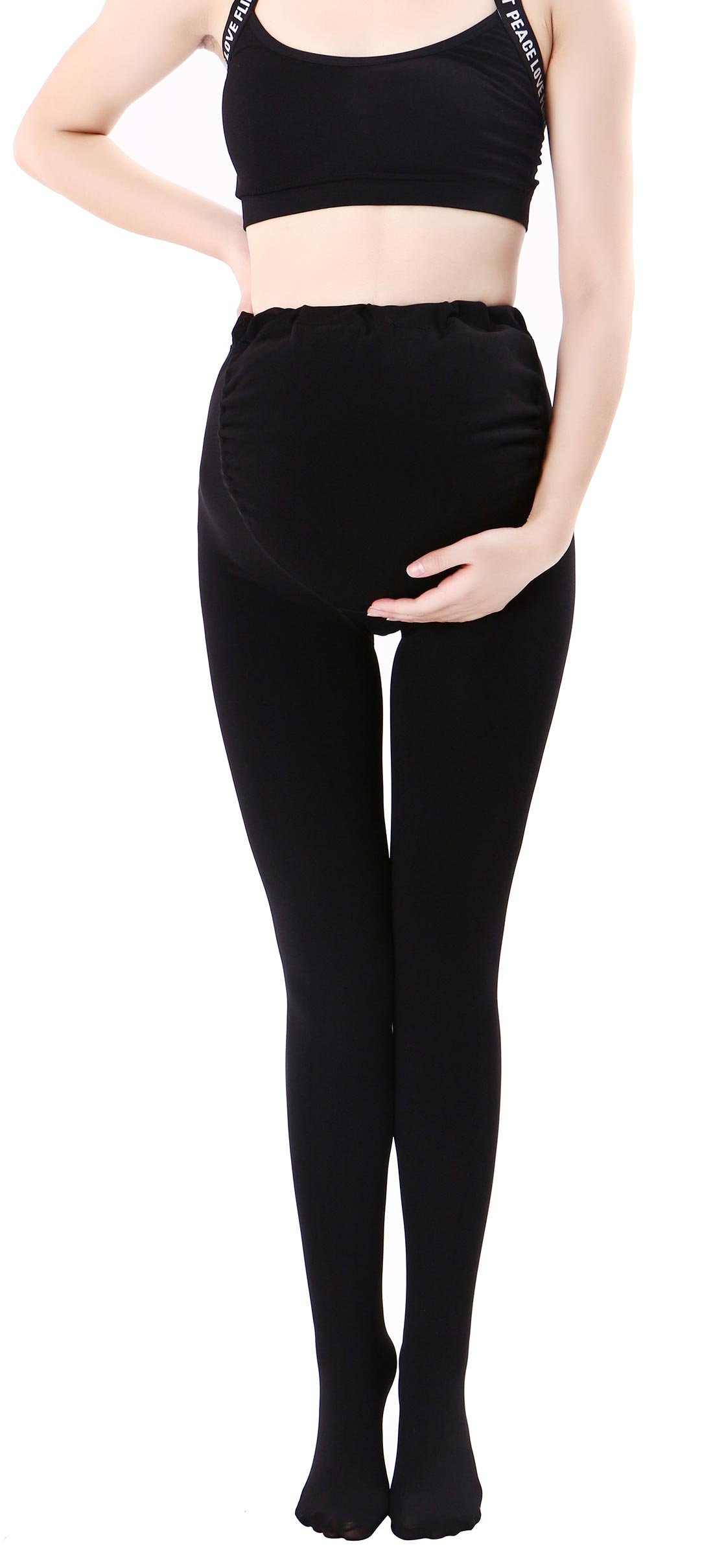 Maternity Support Compression Stockings Full Support Stretch Maternity Leggings Pantyhose Pregnancy Pants Black