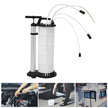 PRIT2016 - Bomba manual de succión de aceite y líquido de vacío de 9 litros,