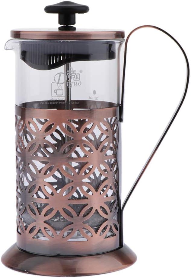 HomeDecTime 1pc Caffettiera A Pistone In Acciaio Inossidabile Francese Caffettiera 600 Ml 15.3x8.5cm