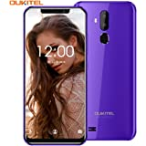 OUKITEL C12 Unlocked Smartphone Global 3G, 6.18 inches (19:9) Screen, 2GB +16GB, Android 8.1 OS, 8MP+2MP Cameras, Dual…