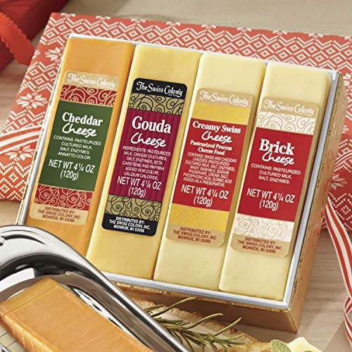 5-Piece Gift Box Cheese Bars with Slicer from The Swiss Colony - Five Piece Gift Box